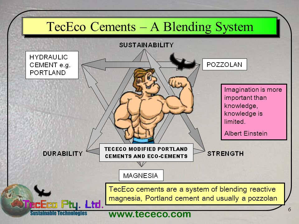 TecEco Cements – A Blending System