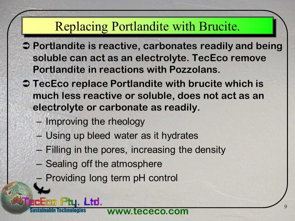 Replacing Portlandite with Brucite.