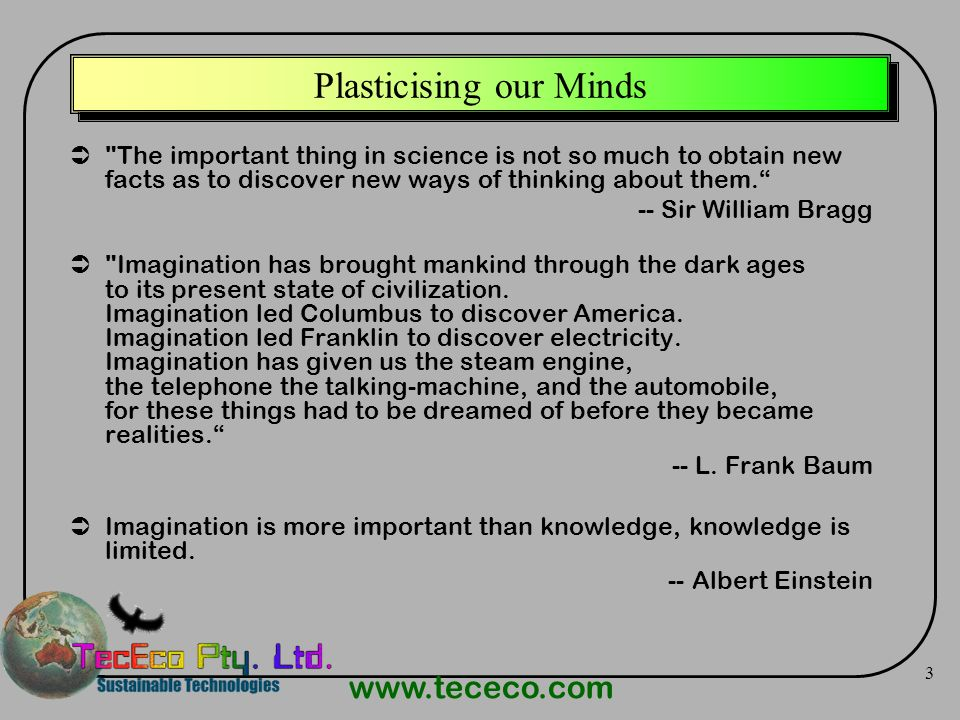 Plasticising our Minds