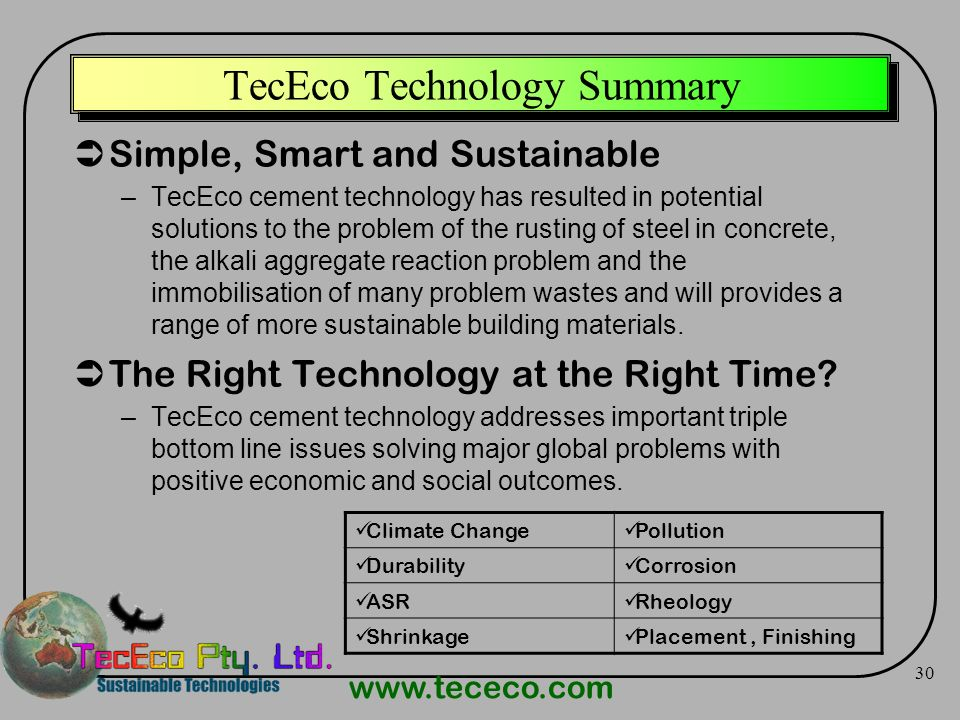 TecEco Technology Summary
