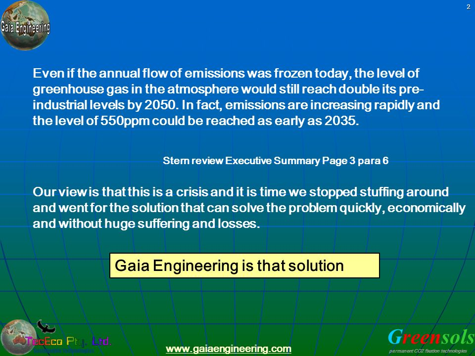 Gaia Engineering is that solution