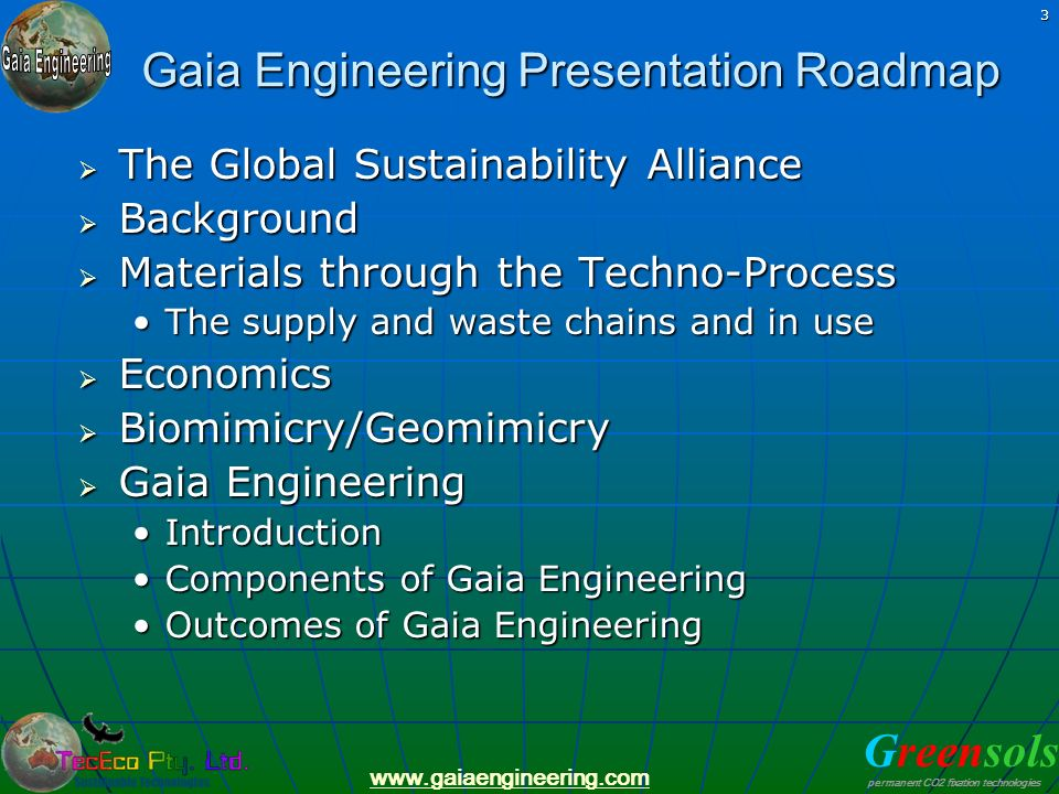 Gaia Engineering Presentation Roadmap