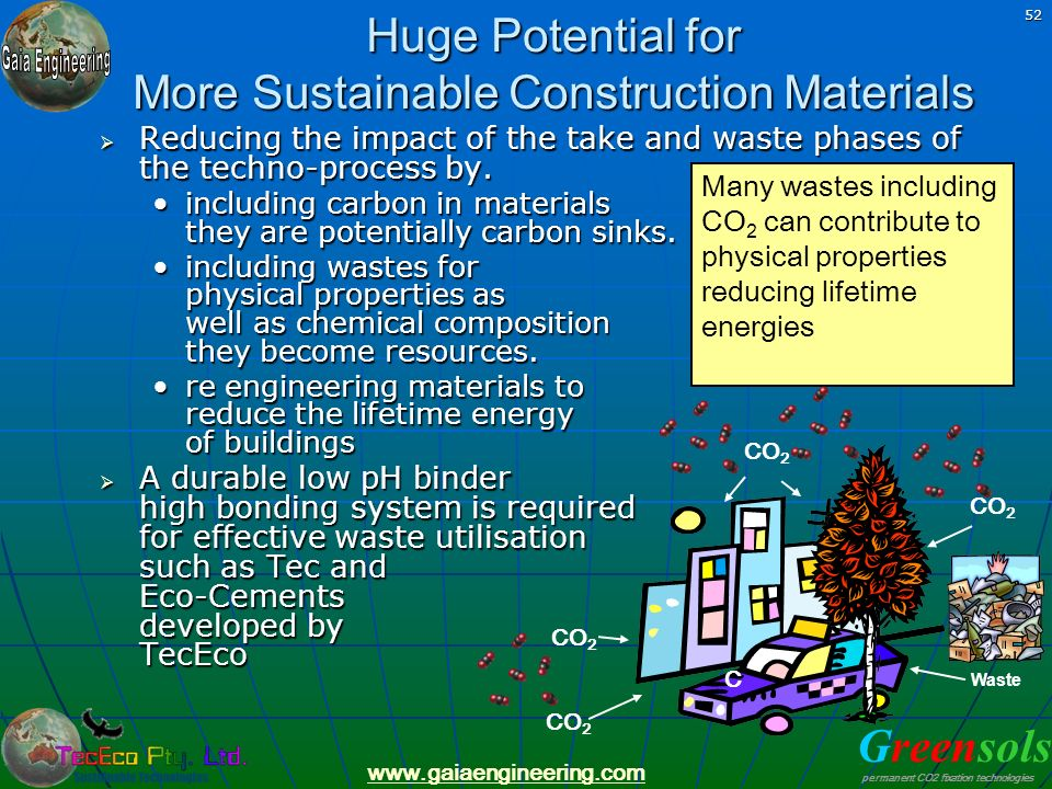 Huge Potential for More Sustainable Construction Materials