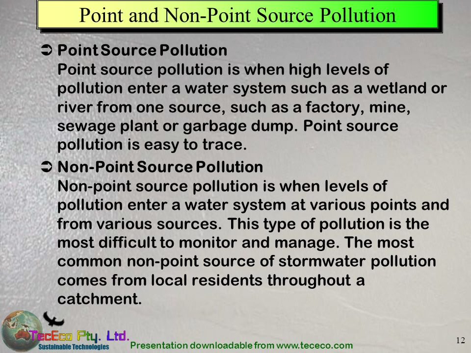 Point and Non-Point Source Pollution