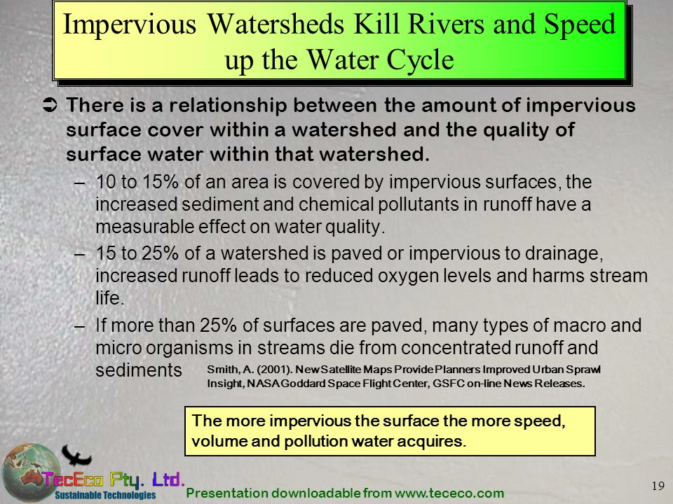 Impervious Watersheds Kill Rivers and Speed up the Water Cycle