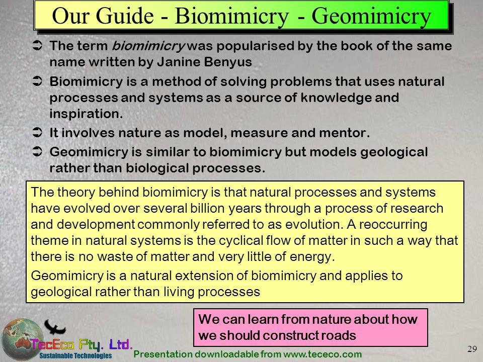 Our Guide - Biomimicry - Geomimicry