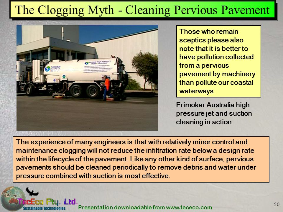 The Clogging Myth - Cleaning Pervious Pavement