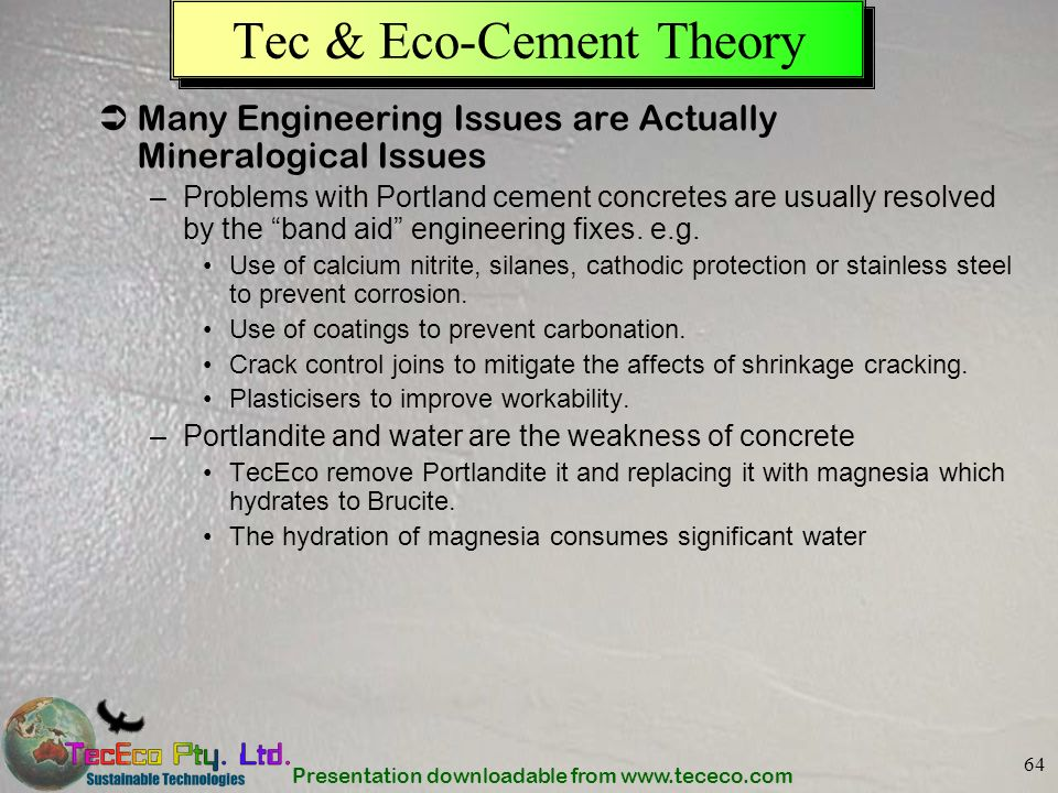 Tec & Eco-Cement Theory
