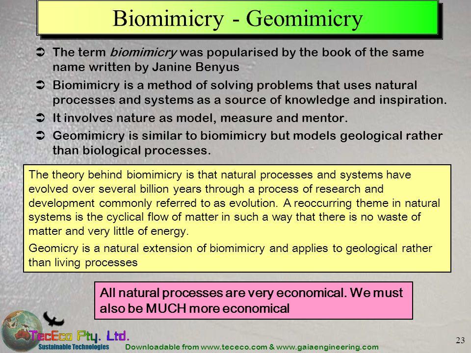 Biomimicry - Geomimicry