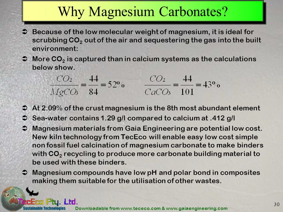 Why Magnesium Carbonates