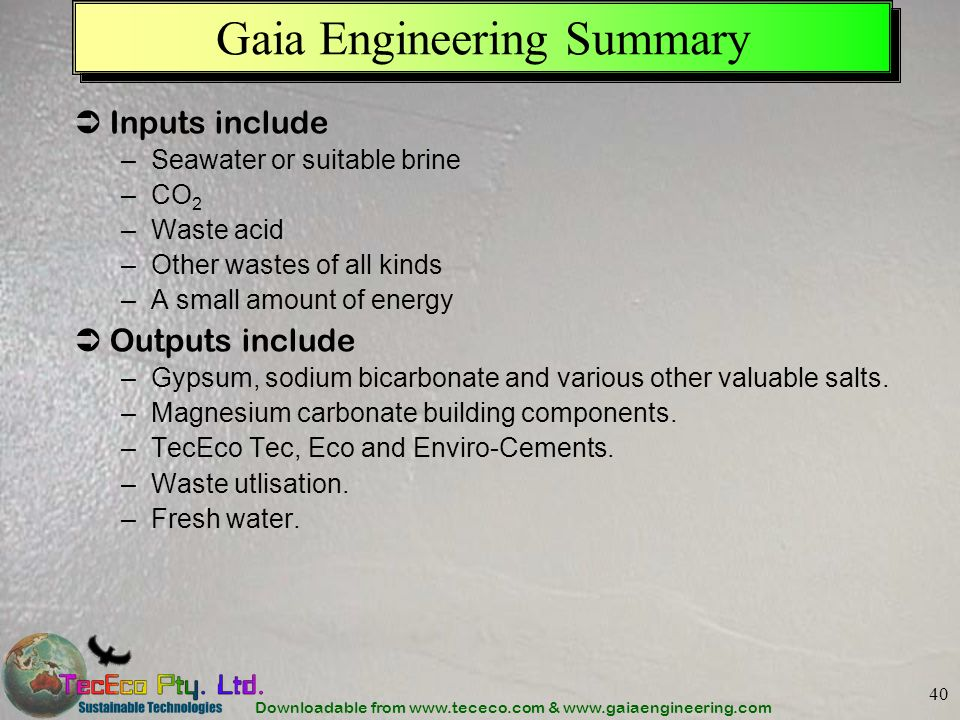 Gaia Engineering Summary