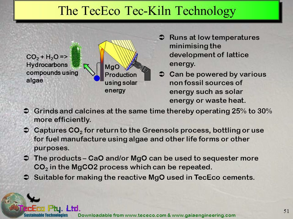 The TecEco Tec-Kiln Technology