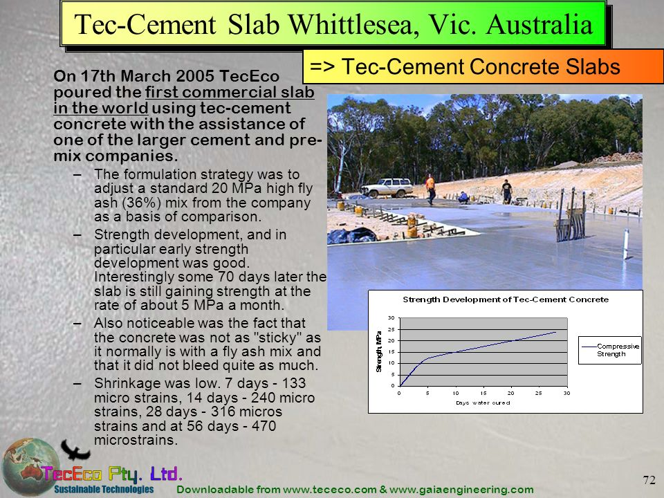 Tec-Cement Slab Whittlesea, Vic. Australia