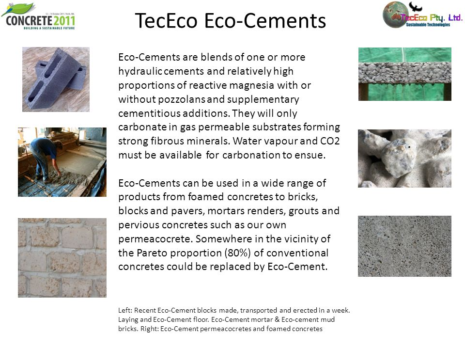 TecEco Eco-Cements