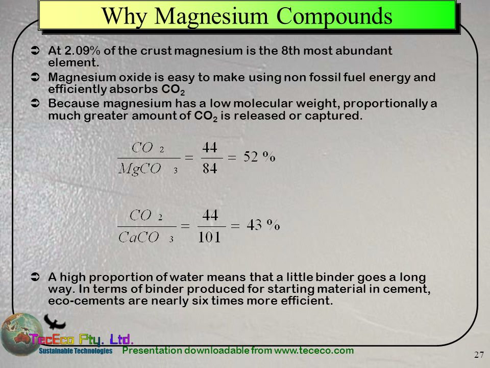 Why Magnesium Compounds