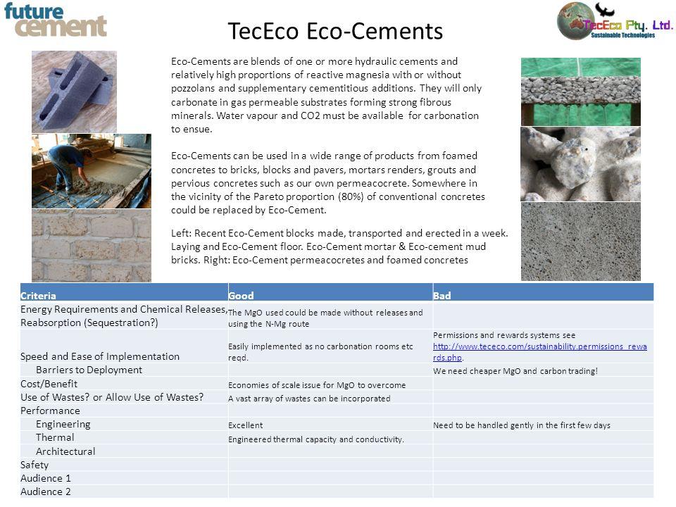 TecEco Eco-Cements