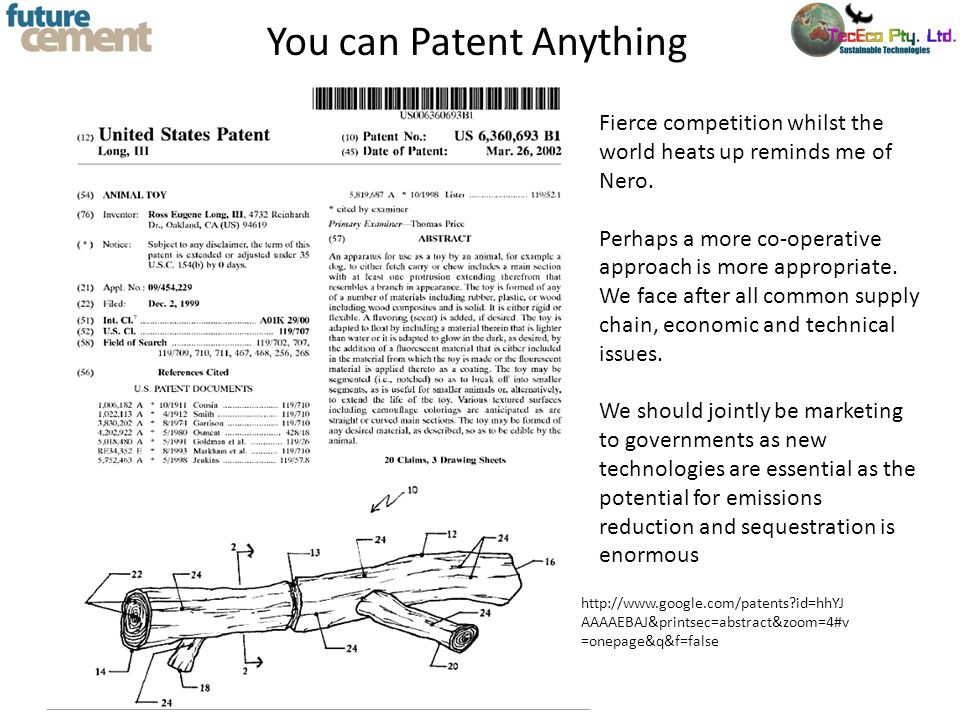You can Patent Anything