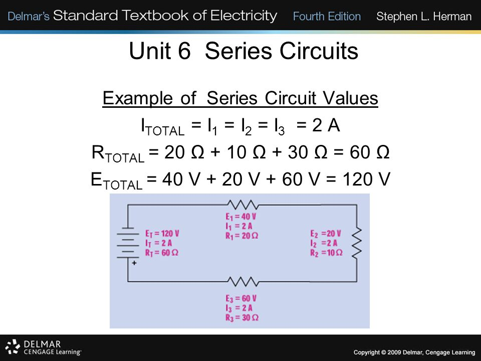 Example of Series Circuit Values