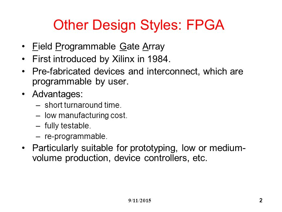 field programmable gate array technology pdf