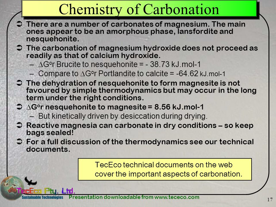 Chemistry of Carbonation