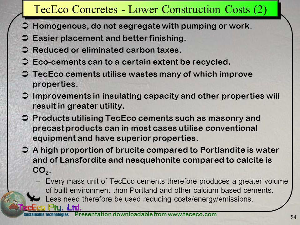 TecEco Concretes - Lower Construction Costs (2)