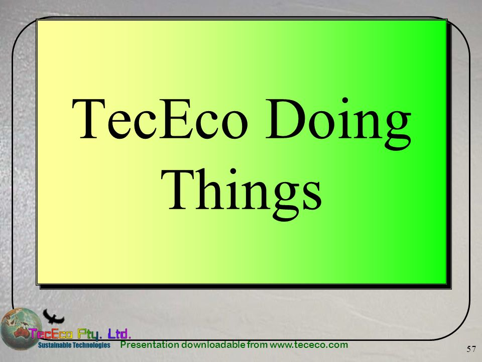TecEco Doing Things
