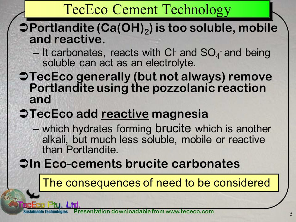 TecEco Cement Technology