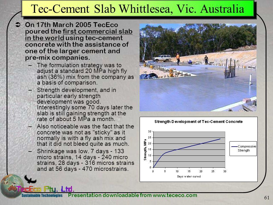 Tec-Cement Slab Whittlesea, Vic. Australia