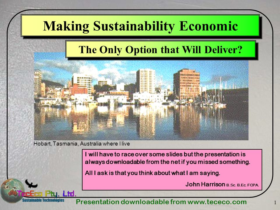 Making Sustainability Economic