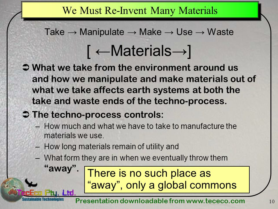 We Must Re-Invent Many Materials