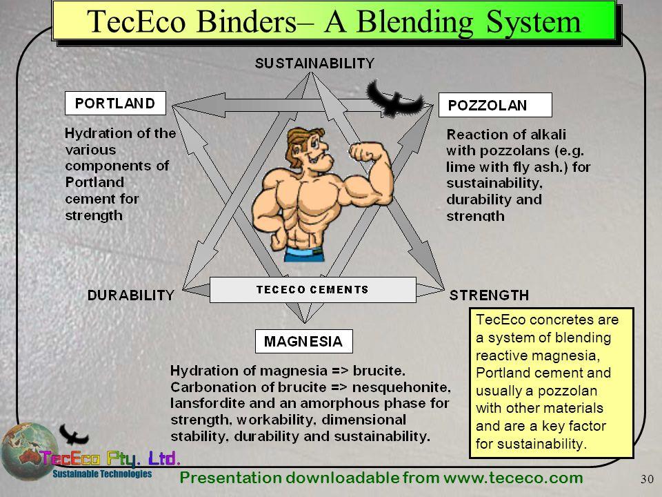 TecEco Binders– A Blending System