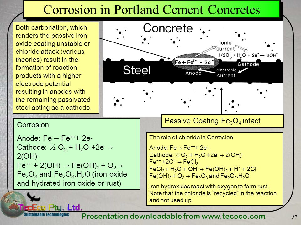 Corrosion in Portland Cement Concretes
