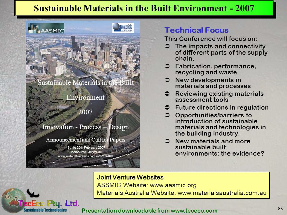 Sustainable Materials in the Built Environment