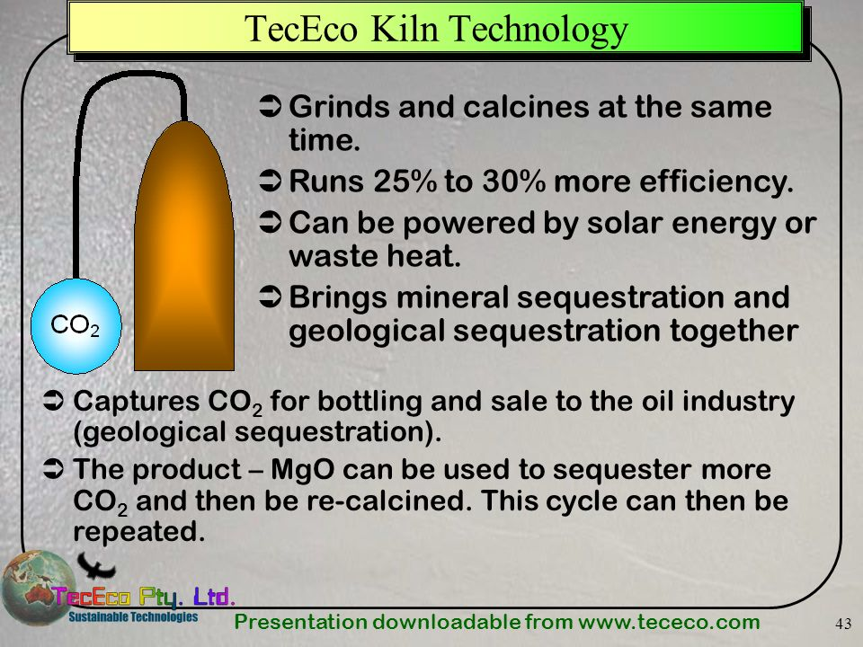 TecEco Kiln Technology