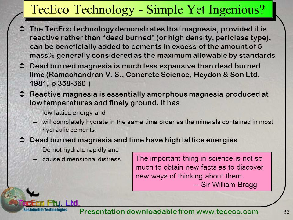 TecEco Technology - Simple Yet Ingenious