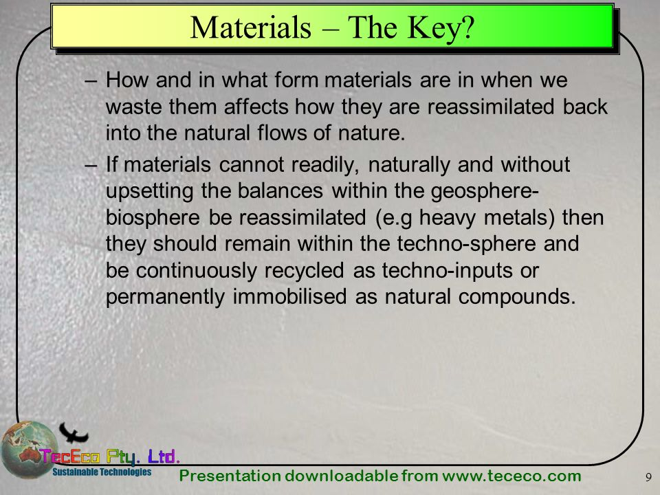 Materials – The Key