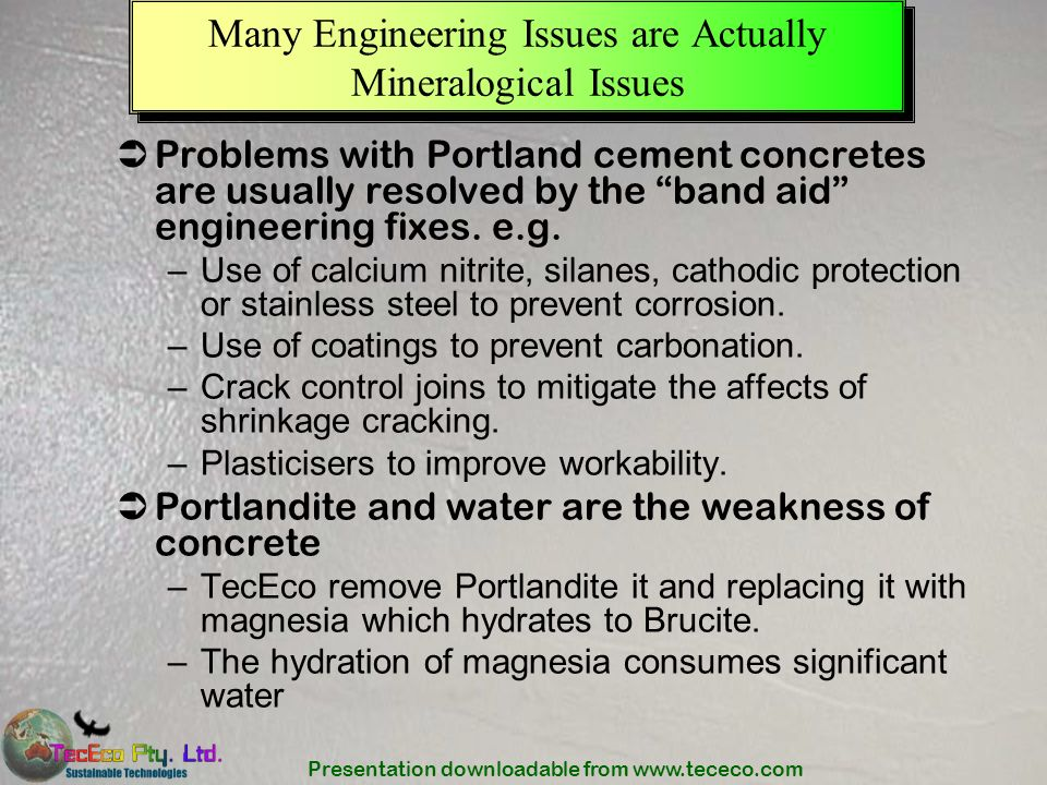Many Engineering Issues are Actually Mineralogical Issues