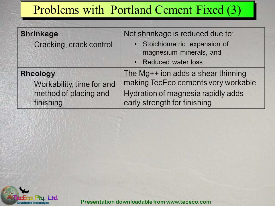 Problems with Portland Cement Fixed (3)