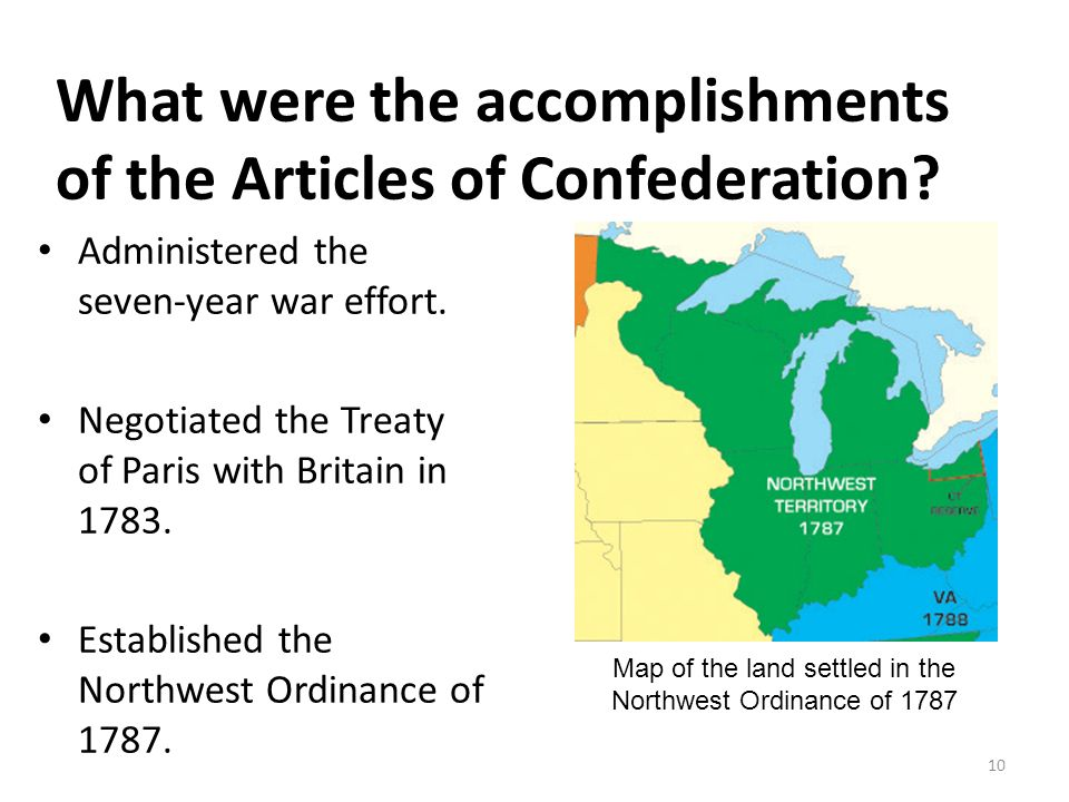northwest ordinance article content connected with confederation