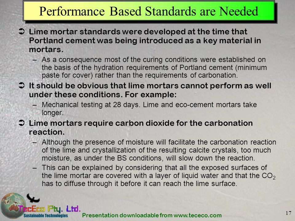 Performance Based Standards are Needed