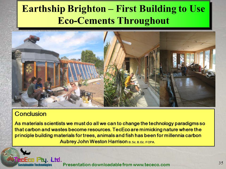 Earthship Brighton – First Building to Use Eco-Cements Throughout