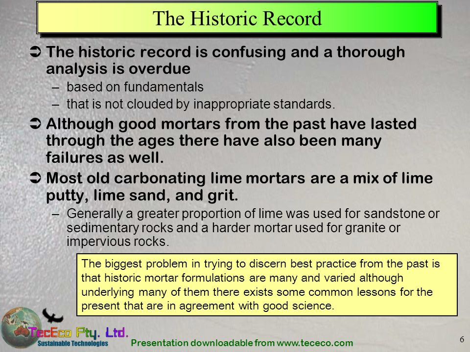 The Historic Record The historic record is confusing and a thorough analysis is overdue. based on fundamentals.