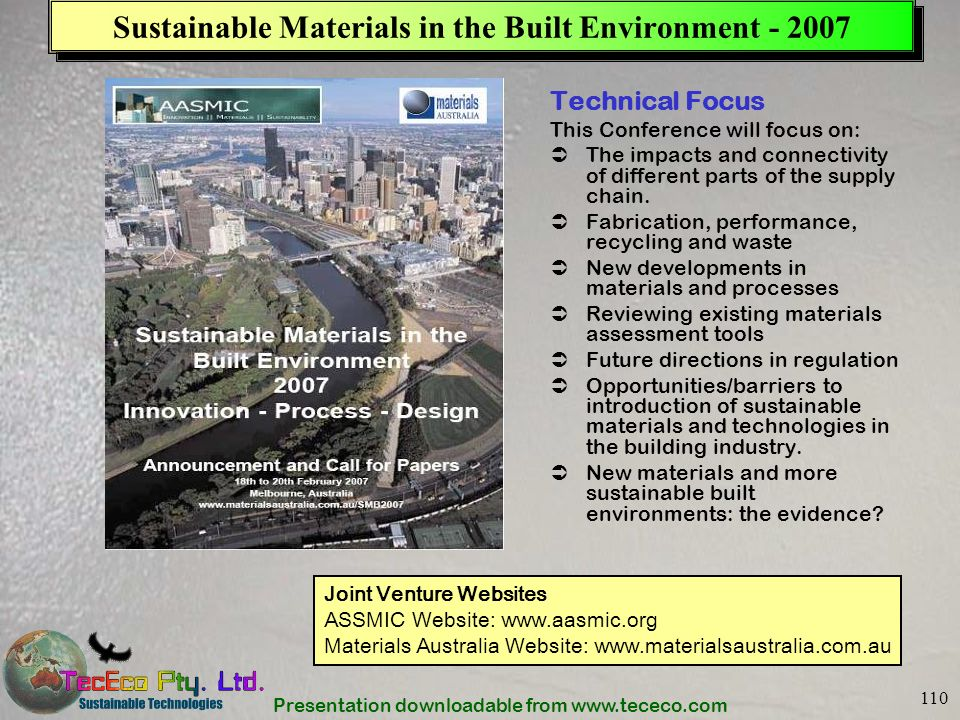 Sustainable Materials in the Built Environment - 2007