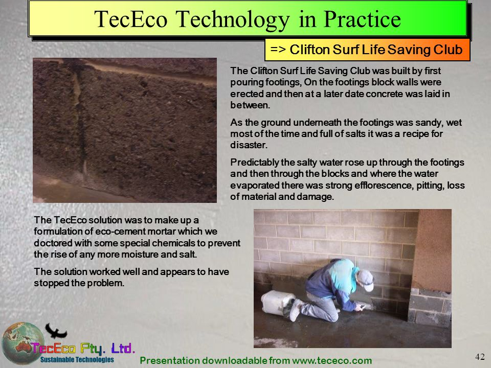 TecEco Technology in Practice