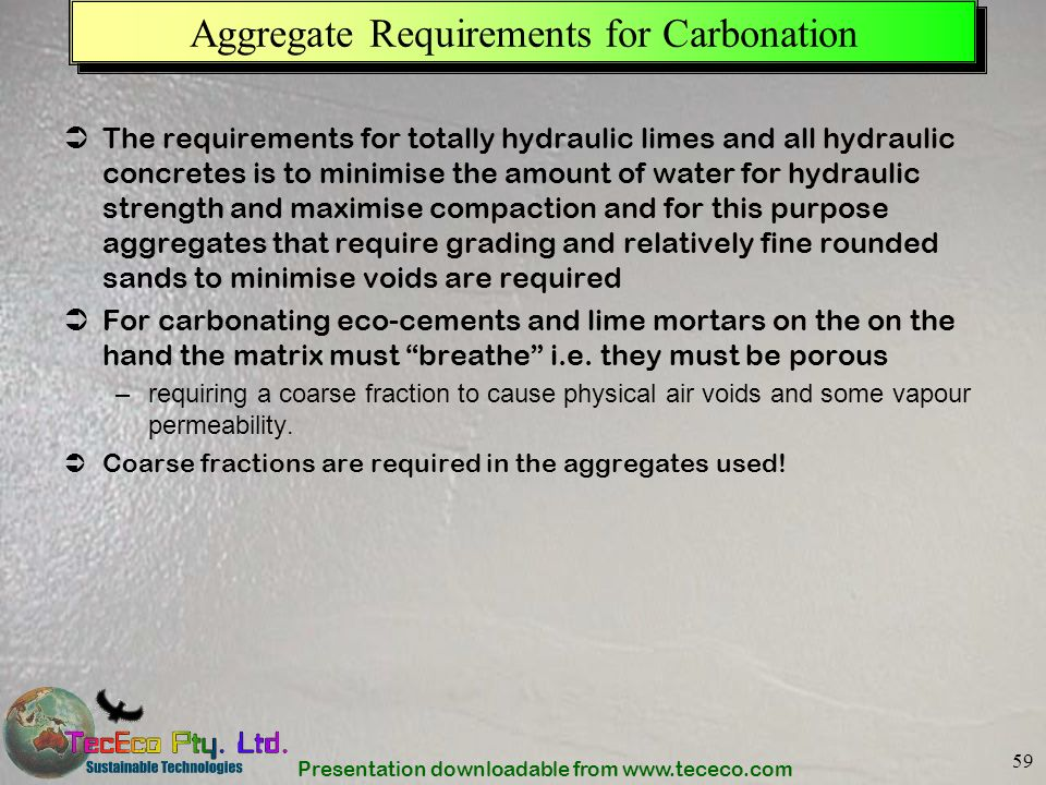 Aggregate Requirements for Carbonation
