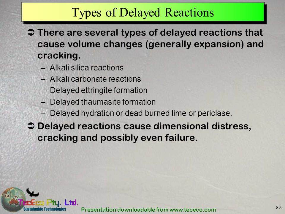 Types of Delayed Reactions