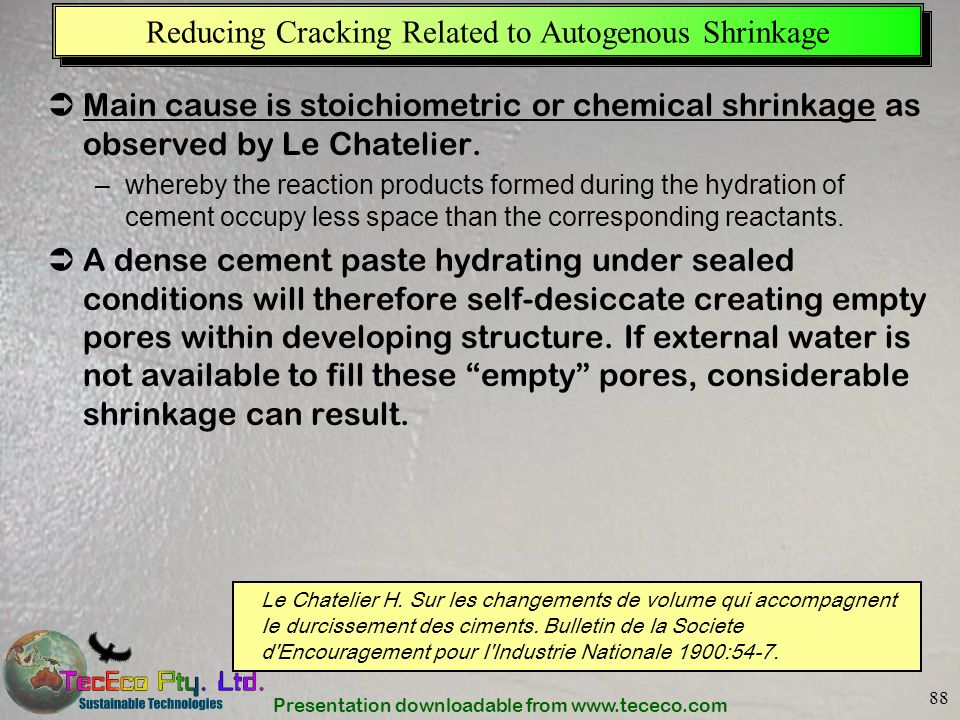 Reducing Cracking Related to Autogenous Shrinkage