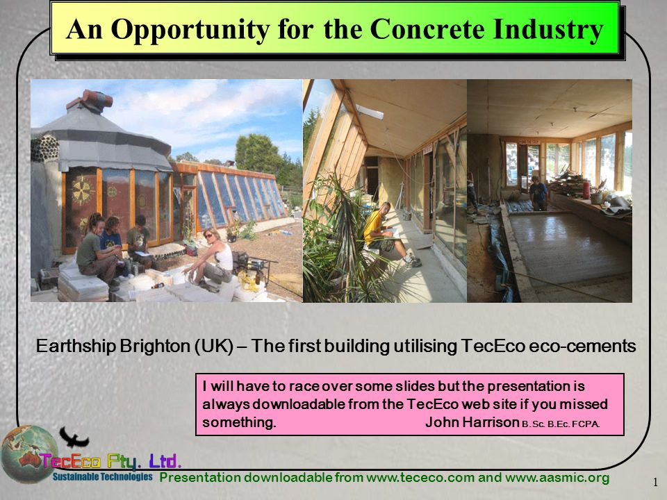 An Opportunity for the Concrete Industry