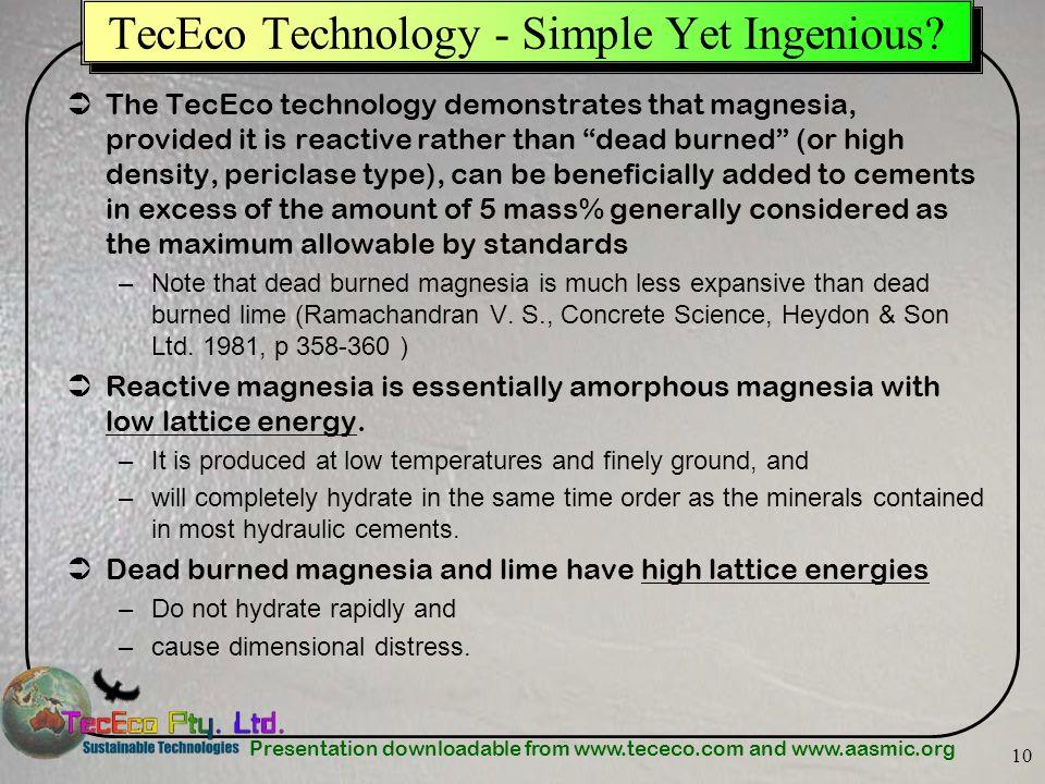 TecEco Technology - Simple Yet Ingenious