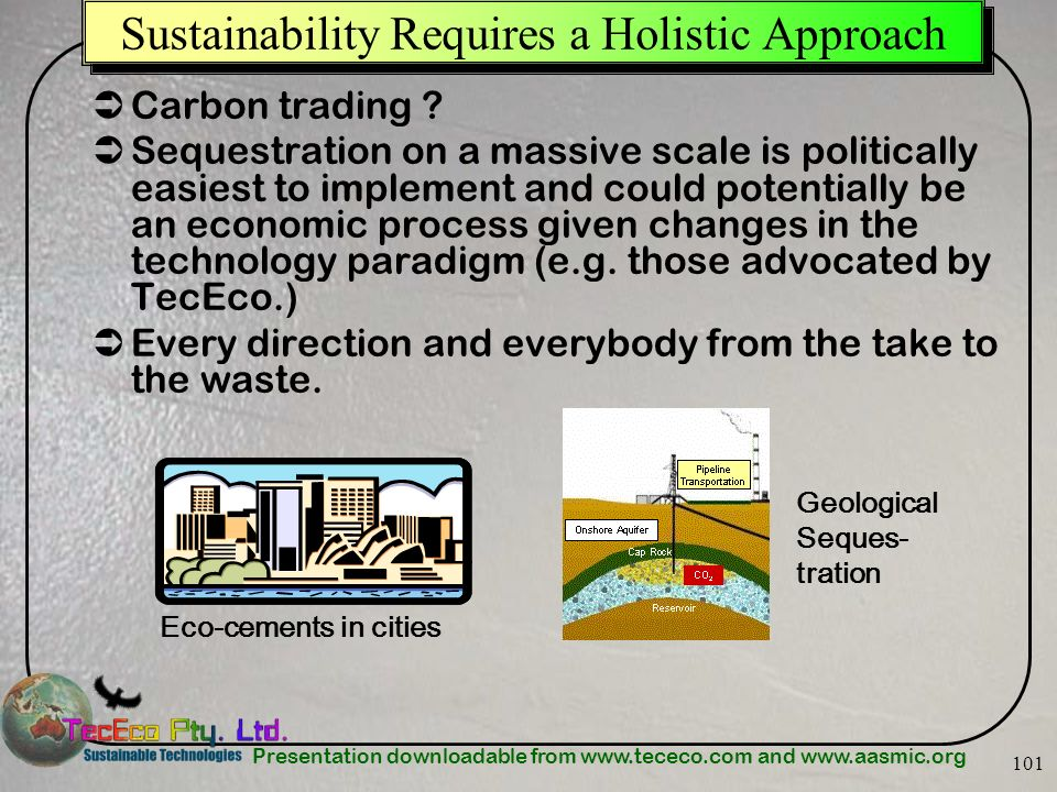 Sustainability Requires a Holistic Approach